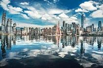 重庆一水池成网红天空之境