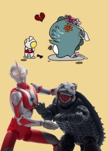 奥特曼和小怪兽