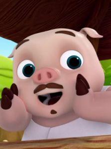 三只小猪与功夫潘达背景图